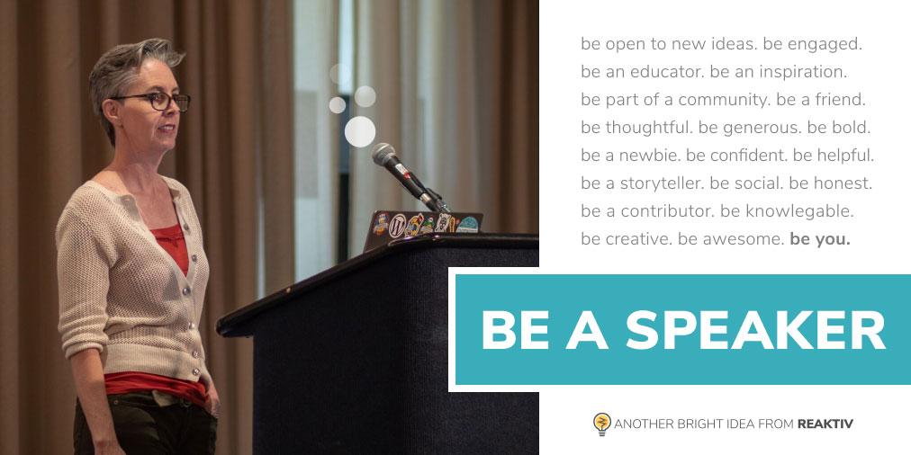 Be a Speaker