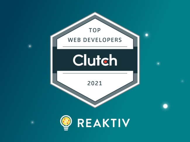 Reaktiv Named Among Top Web Development Firms for 2021