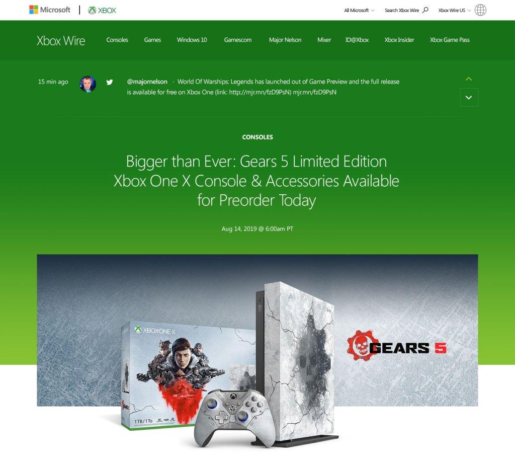 Xbox Wire - New Design