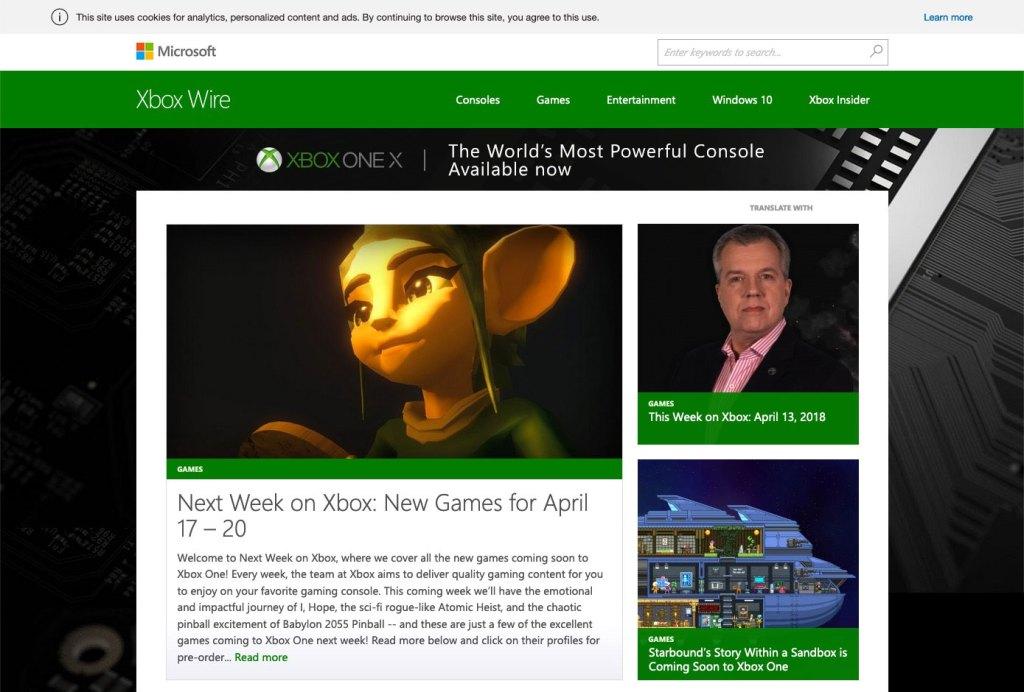 Xbox Wire ca. 2017